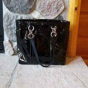 Coach patent leather black purse